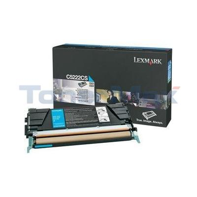 LEXMARK C524 TONER CARTRIDGE CYAN 3K